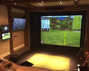 Indoor Golf on Projection System