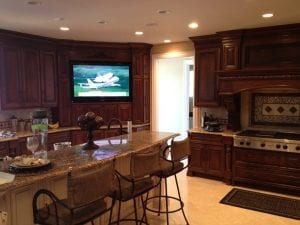 Kitchen LED TV Installation