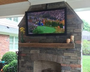 Outdoor Fireplace TV