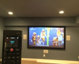 Projector Screen and Dish Network Install