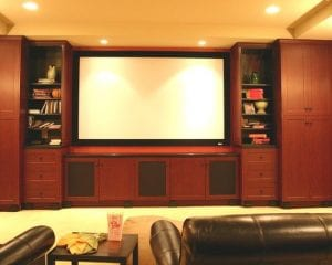 Screen Built In Custom Cabinet