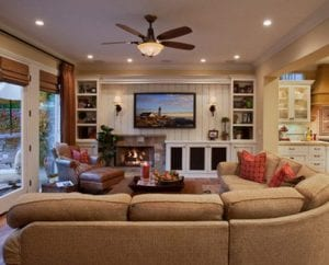 Traditional Family Room AV System