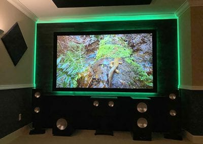 Home Theater Screen and Lighting