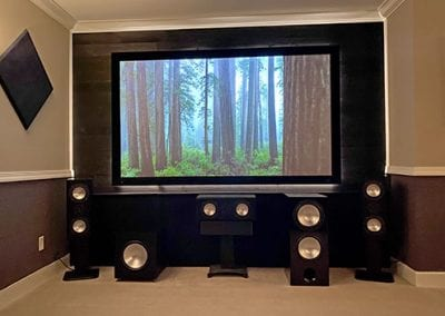 Home Theater Screen and Sound System
