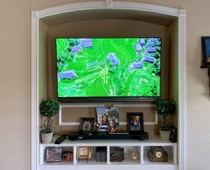 TV Mounted in Alcove